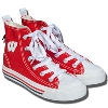 Sideline Sneakers Wisconsin Badger High-Top (Red/White)