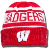 New Era Badgers Knit Hat (Red/White)