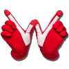 Dub Digits Wisconsin Gloves (Red)