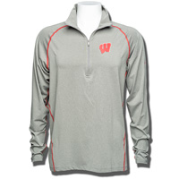 Columbia Wisconsin Badgers Tuk Mountain ½ Zip Shirt (Gray)