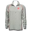 Columbia Wisconsin Badgers Tuk Mountain ½ Zip Shirt (Gray)