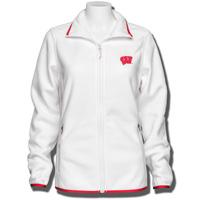 Columbia Women's Wisconsin Badgers Full Zip Fleece (White)