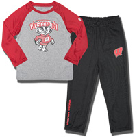 Under Armour Baby Bucky Badger Pant Set (Gray/Red)