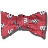 Jardine Bucky Badger and Motion W Bow Tie (Red)