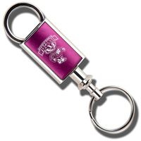 LXG Inc. Wisconsin Engraved Valet Key Chain (Hot Pink)