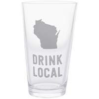 About Face Drink Local Pint Glass