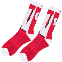 '47 Brand Wisconsin W Socks (Red)