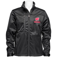 Antigua Wisconsin Badgers Soft Shell Jacket (Black)