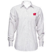 Antigua Wisconsin Affiliate Button Down Shirt (Black/White*
