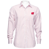 Antigua Wisconsin Affiliate Button Down Shirt (Red/White)*