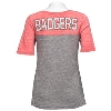 '47 Brand Women's Wisconsin Empire Tee (Red/Gray) * thumbnail