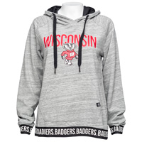 '47 Brand Women's Wisconsin Badgers Revolve Hoodie (Grey) *