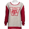 '47 Brand Women's Vault Bucky Badger Sweater (Gray/Red) * thumbnail