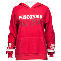 '47 Brand Women's Wisconsin Throwback Hoodie (Red) *