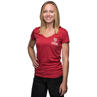 '47 Brand Women's Wisconsin Touchdown T-Shirt (Red)