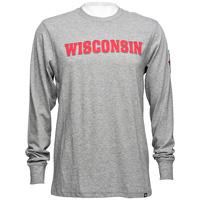 '47 Brand Wisconsin Long Sleeve T-Shirt (Slate Gray)*