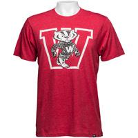 '47 Brand Vault Bucky Badger Club T-Shirt (Red)