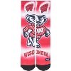 For Bare Feet Youth Sock Bucky Badger (Red/White/Black) thumbnail