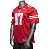 Under Armour Wisconsin Replica Football Jersey (Red) * thumbnail