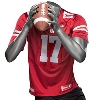 Under Armour Wisconsin Replica Football Jersey (Red) thumbnail