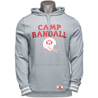 Under Armour Iconic Camp Randall Hooded Sweatshirt (Gray) *