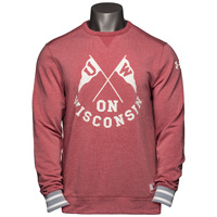 Under Armour UW Iconic Crew Neck Sweatshirt (Vintage Red) *