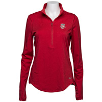 Under Armour Women's ½ Zip Bucky Badger (Red) *