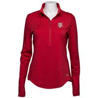 Under Armour Women's ½ Zip Bucky Badger (Red) *