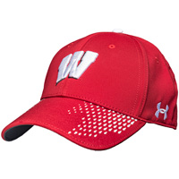 Under Armour Classic Fit Adjustable Wisconsin Hat (Red)