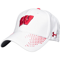Under Armour Classic Fit Adjustable Wisconsin Hat (White)