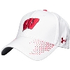 Under Armour Classic Fit Adjustable Wisconsin Hat (White) thumbnail