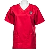CID Women's Wisconsin Badgers Scrub Top (Red) 2X and 3X