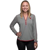 Cutter & Buck Women's Wisconsin ¾ Zip Shirt