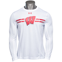 Under Armour '17 Wisconsin Sideline Long Sleeve (White) 3X *