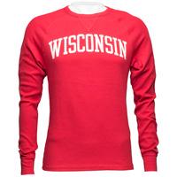 League Wisconsin Waffle Long Sleeve Shirt (Red)