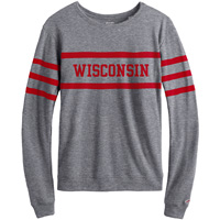 League Women's Wisconsin Long Sleeve Shirt (Gray)