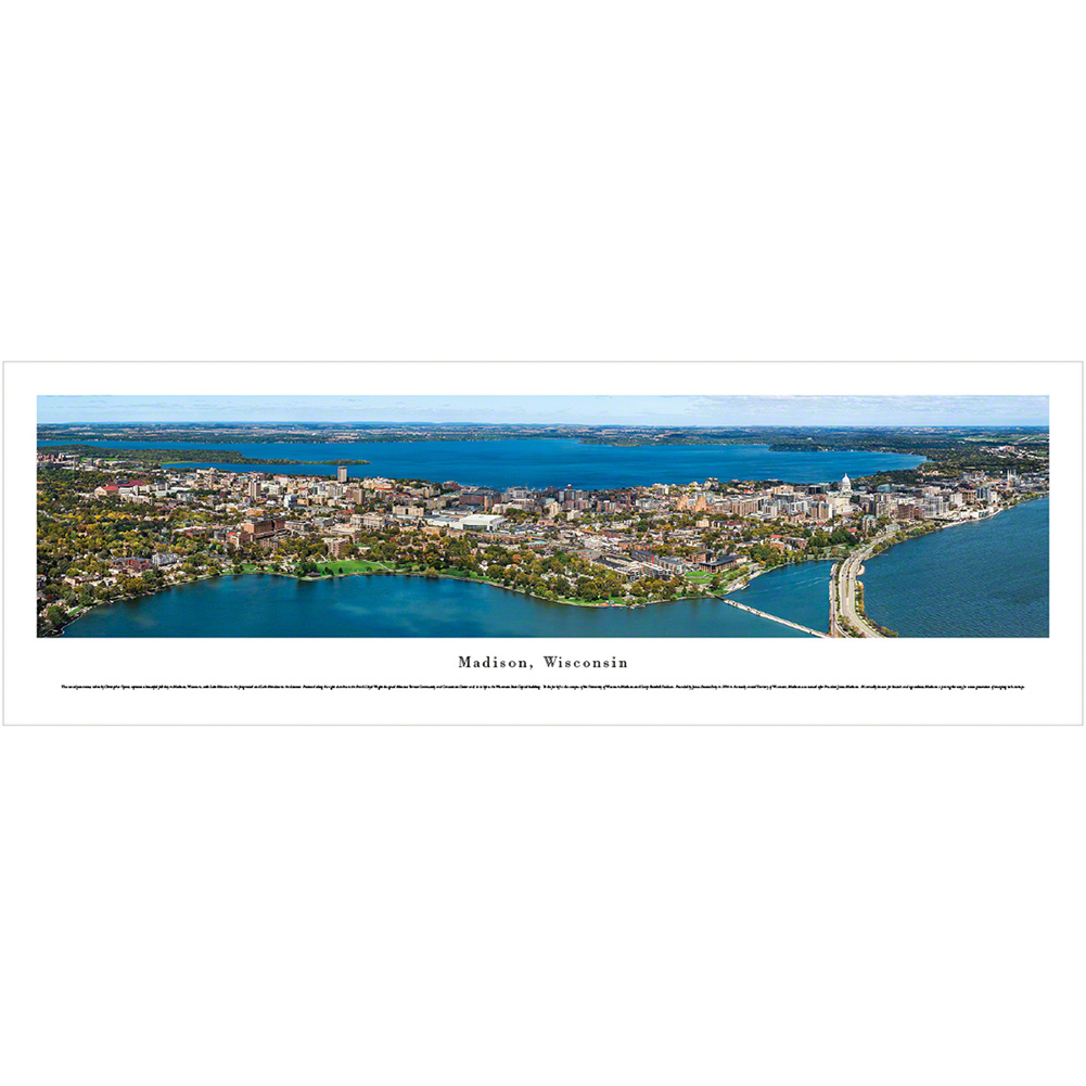 blakeway madison wisconsin skyline panoramic poster university