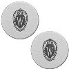 LXG Inc. Wisconsin Shield Cuff Links (Silver)