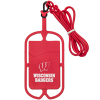 LXG Inc. Wisconsin Badgers Cell Phone Lanyard (Red)