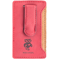 LXG Inc. Bucky Badger Cell Phone Card Holder (Red)