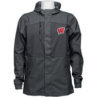 Under Armour Wisconsin Hooded Softshell Jacket (Gray) 3X