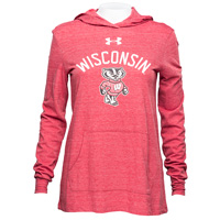 Under Armour Women's Wisconsin Hooded Long Sleeve (Red)