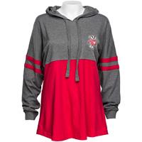 Boxercraft Women's Bucky Hooded Long Sleeve (Red/Gray)