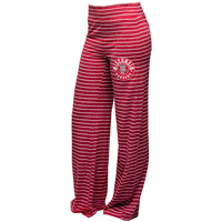 Boxercraft Women's Stripe Wisconsin Badgers Sweatpants (Red)