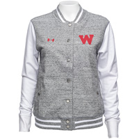 Under Armour Women's Iconic Letterman's Jacket (Gray/White*