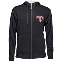 Champion Wisconsin Hooded Full Zip Sweatshirt (Black)