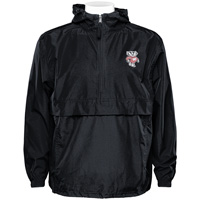 Champion Wisconsin Badger Hooded Pack N Go Jacket (Black)