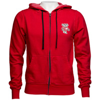 Alta Gracia Bucky Badger Full Zip Sweatshirt (Red/Black)