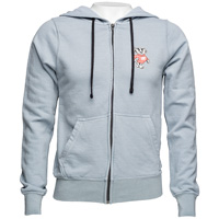 Alta Gracia Bucky Badger Full Zip Sweatshirt (Steel/Black)