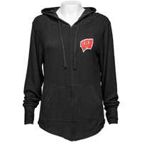 Alta Gracia Women's Cozy Wisconsin Full Zip (Black)